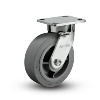 5 Inch Albion 120 Contender Kingpinless Stainless Swivel Caster - (120XS05201S)