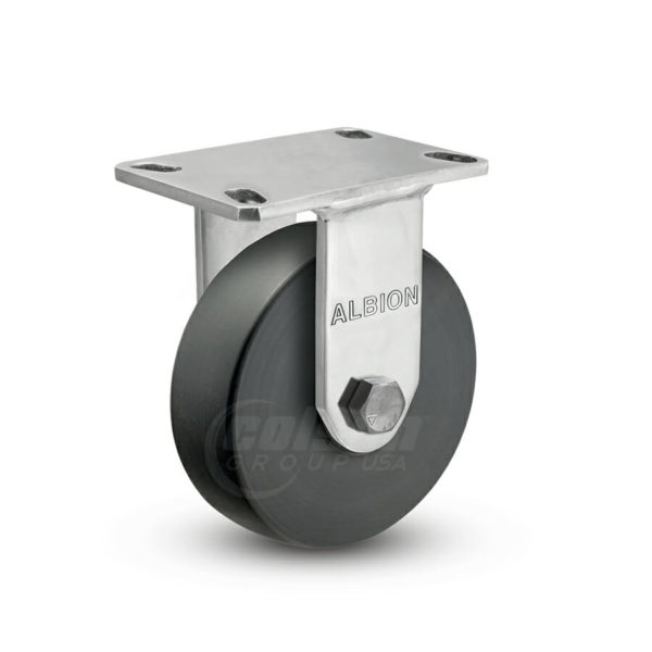 10 Inch Albion 330 Contender Kingpinless Stainless Rigid Caster - (330NX10528R)