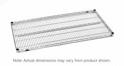 """Super Erecta Wire Shelf, Polished Stainless Steel, 24"""" x 60"""" (0-41105-33721-9)"""