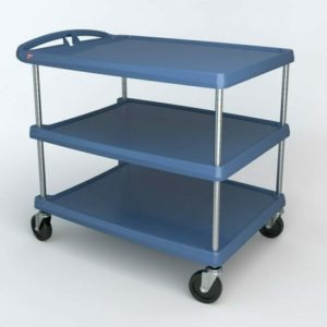 "myCart Series 3-shelf Utility Cart with Microban, Blue, 27.6875"" x 40.25"" (0-41105-86504-0)"