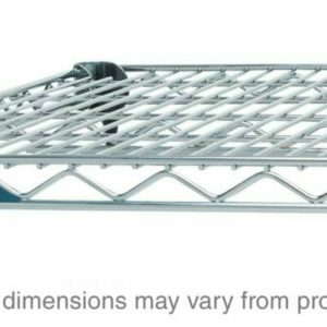 "Super Adjustable Super Erecta Wire Shelf, Polished Stainless Steel, 24"" x 60"" (0-41105-41839-0)"