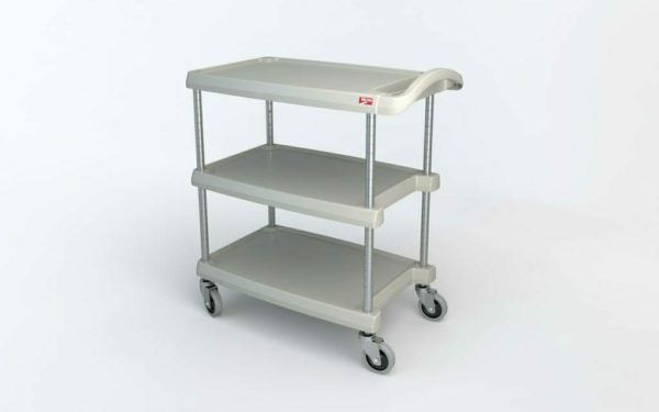 "myCart Series 3-shelf Utility Cart, Gray, 18.3125"" x 31.5"" (0-41105-86493-7)"