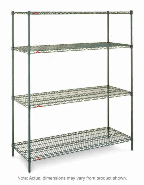"Super Erecta 4-Tier Starter Unit, Metroseal 3 Epoxy, 18"" x 48"" x 63"" (0-41105-65795-9)"