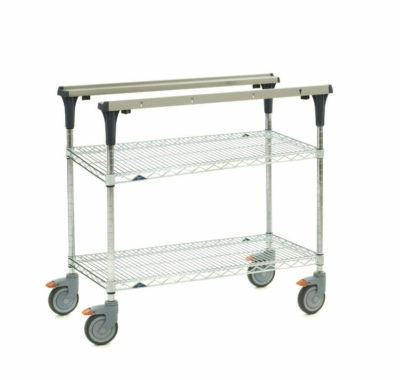 "PrepMate MultiStation, 36"", Brite Zinc Wire top and bottom shelves with Chrome posts (0-41105-88071-5)"