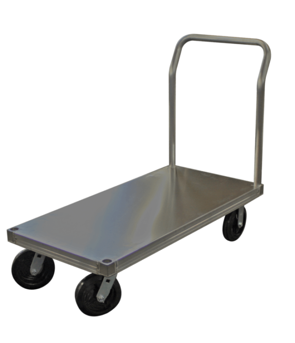 """Smooth, 30"""" W x 60""""L, 8"""" Casters, 1 Standard Handle"""