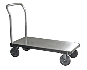 "Smooth, 30"" W x 60"" L, 8"" Casters, 1 Standard Handle"